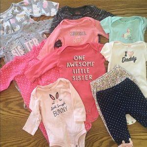 Bundle of Infant Girls Clothes 11 Pieces 6 Months